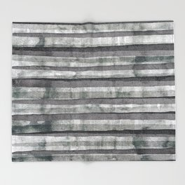Birch Dust Leather Throw Blanket