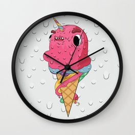 Ice Cream Unicorn Wall Clock