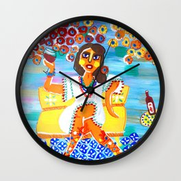 Wine break Wall Clock