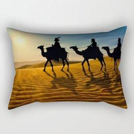 Holiday Christmas The Three Wise Men Desert Camel  Rectangular Pillow