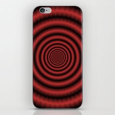 Fractal Rings in Red iPhone & iPod Skin