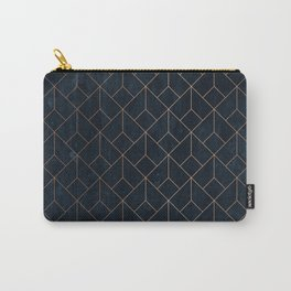 Gold Art deco on Navy ink Carry-All Pouch