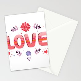 Flora Love Boho Style Stationery Cards