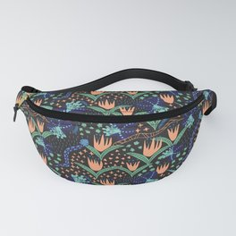Tropical Snakes and Flowers Fanny Pack