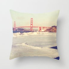 Golden Gate bridge. San Francisco photograph Throw Pillow