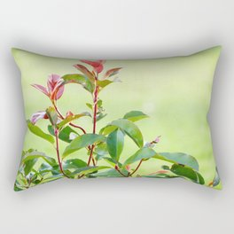 Greenery and red Rectangular Pillow
