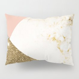 Gold marble collage Pillow Sham