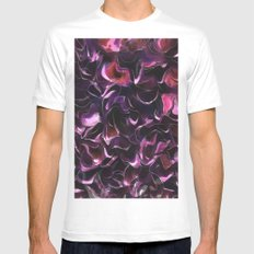 Rose Water MEDIUM White Mens Fitted Tee