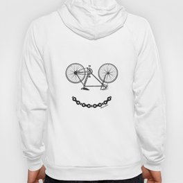Mens Ladies Smiley Bicycle Chain Funny Bike Cycling T-Shirts Hoody