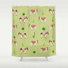 donkeys and cactuses Shower Curtain