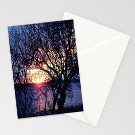 Sunset Through The Plum Bush Stationery Cards