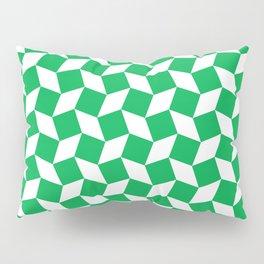 Green Op Art Pattern Pillow Sham