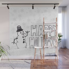 Snowman (Happy Holidays) Wall Mural