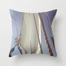 Sailboat in Newport, Rhode Island Throw Pillow
