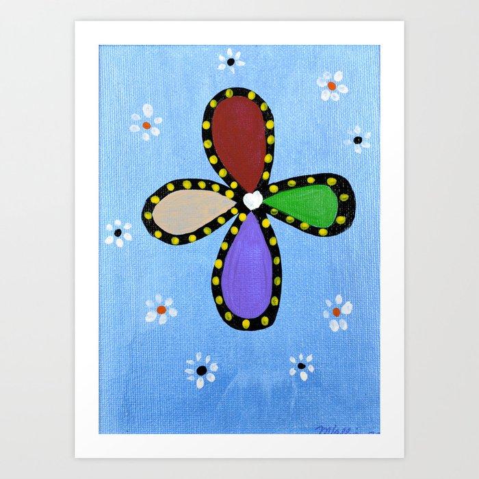"""Floral Cross"" Art Print"