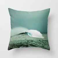 indonesia Throw Pillows featuring Empty, Indonesia by Maggie Marsek Photography