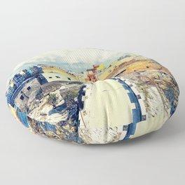 Trapani art 18 Sicily Floor Pillow