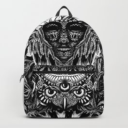 Owl and face Backpack