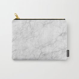 White Marble 009 Carry-All Pouch
