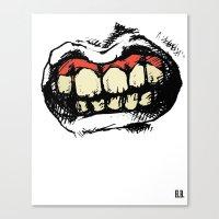 teeth Canvas Prints featuring TEETH! by Helena Bowie Banshees