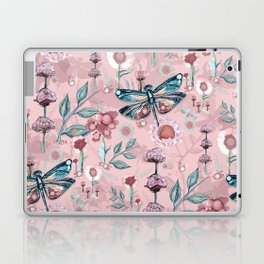 Rose Gold Dragonfly Garden | Pastel Laptop & iPad Skin