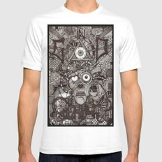 In God We Rust  MEDIUM White Mens Fitted Tee
