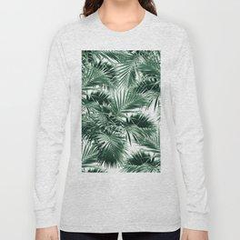 Tropical Palm Leaf Jungle #1 #tropical #decor #art #society6 Long Sleeve T-shirt