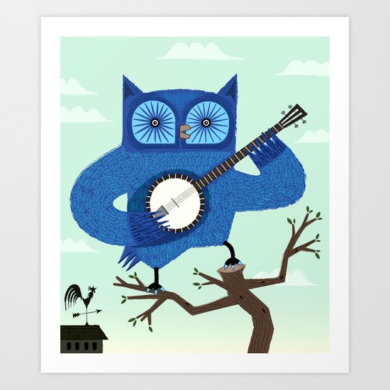 The Banjowl Art Print