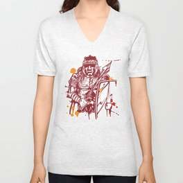 roman warrior hand draw Unisex V-Neck