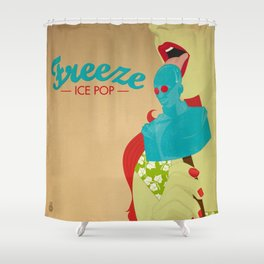 Freeze Ice Pop Shower Curtain