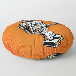 Retro Robot Toy Floor Pillow