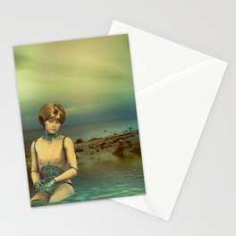 Cybergirl try to Escape Stationery Cards