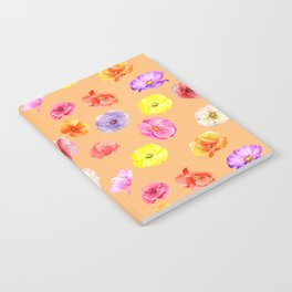 Orange Poppy Pattern 05 Notebook