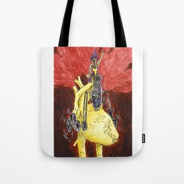 Run The Heart Tote Bag