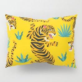 Yellow Tiger Tropical Pattern Pillow Sham
