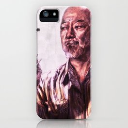 Mr. Miyagi from Karate Kid iPhone Case