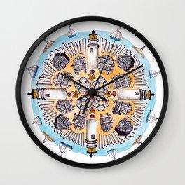 Cape Cod Mandala Wall Clock