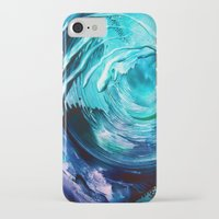 surfing iPhone & iPod Cases featuring Surfing by ART de Luna