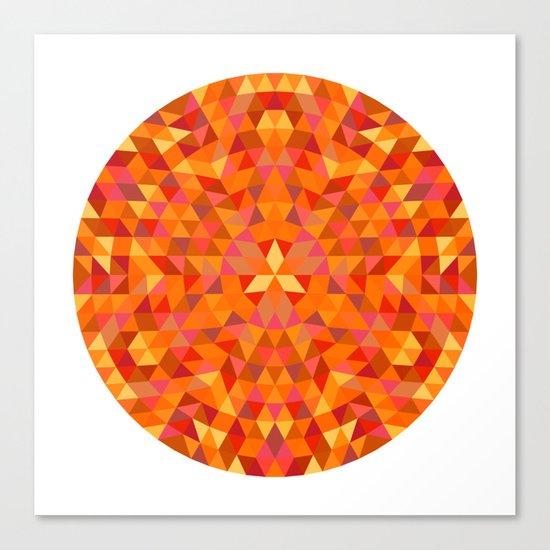 Triangle Sun Mandala Canvas Print