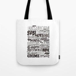 Movies Genres BW Tote Bag
