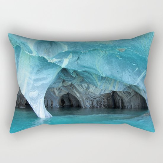 Marble blue 3 Rectangular Pillow