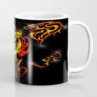 astrology Mugs featuring Leo Astrology Sign by TrinityHawk Photography & Multimedia