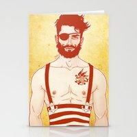 sailor Stationery Cards featuring Sailor by Ismael Álvarez