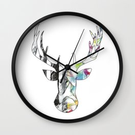 Black and White to Color Deer Head Wall Clock