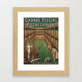 Grande Piscine Framed Art Print