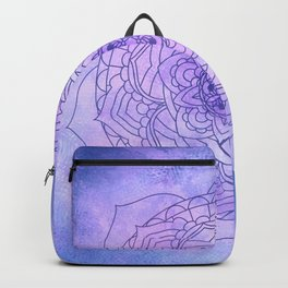 Waterolor Mandala FLower Backpack