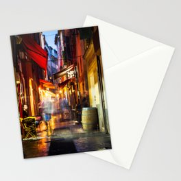 A walk through Nizza after the rain Stationery Cards