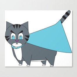 Super(angry) Kitty Canvas Print