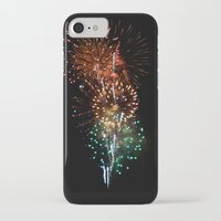 fireworks iPhone & iPod Cases featuring Fireworks by Tanya Thomas