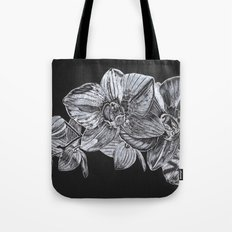 Silver Orchid Tote Bag